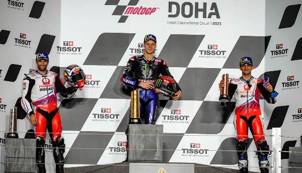 dohagp motogp podium